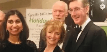 Suella with Jacob Rees-Mogg